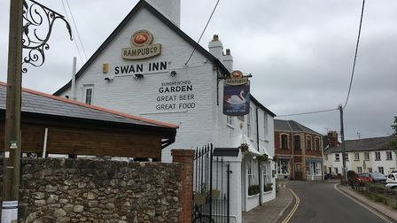 The Swan Inn is in contention to be named most dog friendly pub in the South West