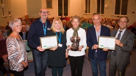Sidmouth in Bloom Awarded Gold and the Sargent Cup. Ref shs 42 19TI 2404. Picture: Terry Ife