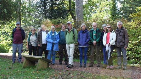 Voluntees from Sidmouth Arboretum visited the National Arboretum. Picture: Sidmouth Arboretum