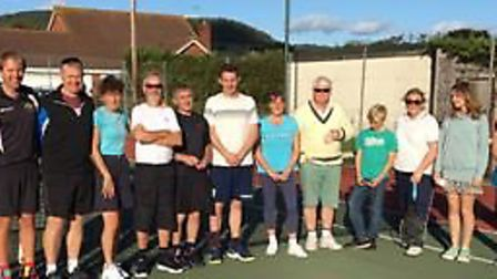 members of Sidford tennis Club at the 2019 Club Tournament Finals meeting. Picture SIDFORD TENNIS CL