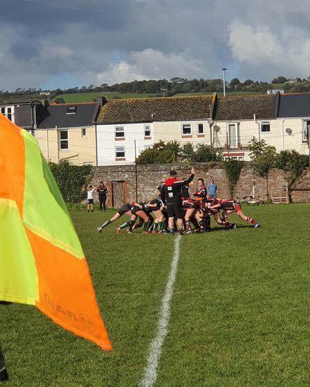 Action from the Sidmouth Under-15 girls victory at Teignmouth. Picture: SRC