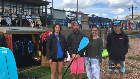 Maddie Todd, Guy Russell, Livi Mclennan and Josh Roberts at Jurassic Paddle Sports pictured in 2018.