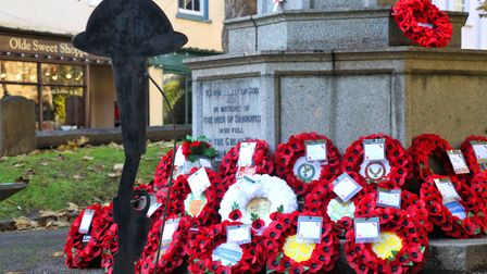 Sidmouth Remembrance Sunday. Picture: Simon Horn