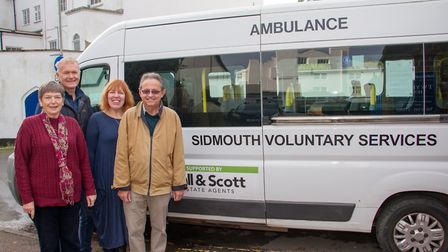 Jenny Waller, Kevin Harris, Carol Drover-Taylor and Chris Lemaitre of the Sidmouth Voluntary Service