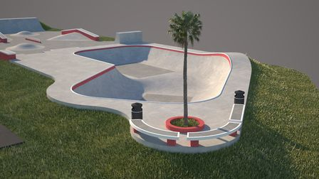 The first look at revamping Sidmouth skatepark. Picture: Maverick Industries