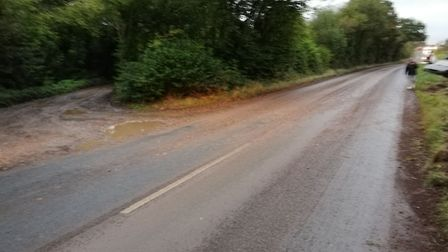 The road where the accident took place. Picture: Contributed