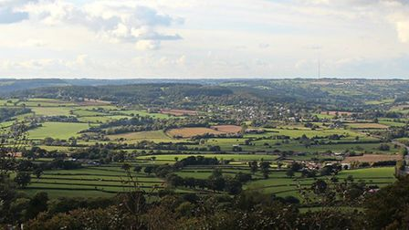 A view from Trinity Hill. Picture: East Devon District Council