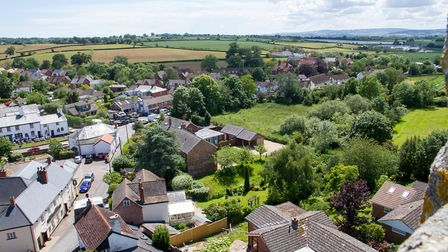 A view of Woodbury from the top of the parish church. Ref exe 23 19TI 6000. Picture: Terry Ife