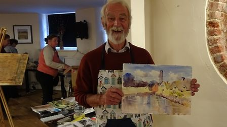 Watercolour artist John Bailey. Picture: Sidmouth Society of Artists