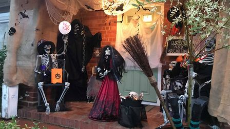 Marie Howe likes to make an effort for children at her Newton Poppleford home on Halloween. Picture: