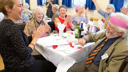 Photos from a previous year's Sidmouth's annual Christmas lunch. Credit: Sarah Aires