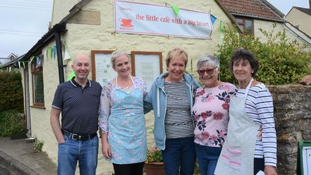 Lenny's Café volunteers, who donate their time and skills to help their village – and local charitie