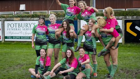 Sidmouth RFC Undedr-18 girls team. Picture SIDMOUTH RFC