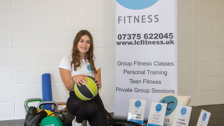 Lauren Clapp of LC Fitness. Ref shs 32 19TI 9893. Picture: Terry Ife
