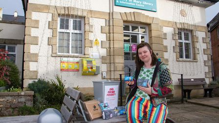 Angela Phillips is launching an End Period Poverty campaign. Ref sho 46 19TI 4188. Picture: Terry If