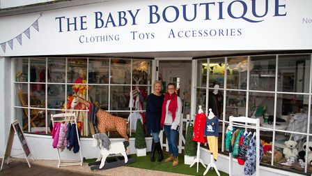 Abbie and Sarah Cook celebrate their 1st anniversary at The Baby Boutique in Ottery. Ref sho 45 19TI