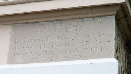 The cornerstone to the new house, designed by Henry Roberts, was laid on September 6, 1837.