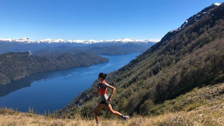 Kirsteen Welch on a training and acclimatisation run in the Patagonian mountains before The World Mo
