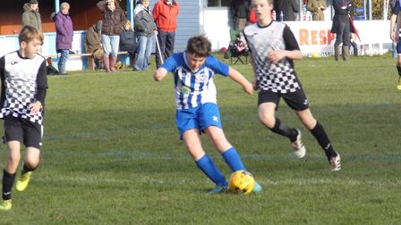 Ottery St Mary Under-14s player Freddie Clarke in action. Picture: STEPHEN UPSHER