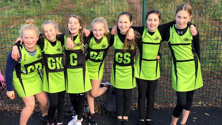Sidmouth Netball Club Under-11s who have made such a superb start to the new season. Picture LOUISE