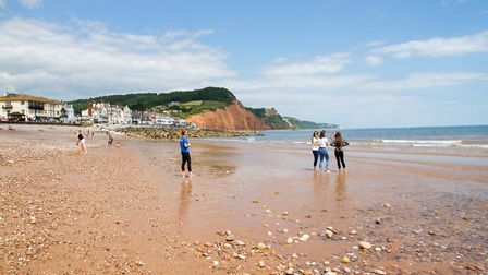 Sidmouth beach. Ref shs 27 19TI 7138. Picture: Terry Ife
