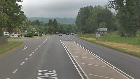 The A3052 at Bowd. Picture: Google