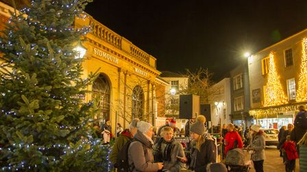 Sidmouth's Christmas lights switch on. Ref shs 47 19TI 4727. Picture: Terry Ife