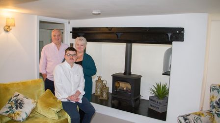 Bulverton House new owners Karen and Phillip Corrick with their son Cameron. Ref shs 47 19TI 4808. P