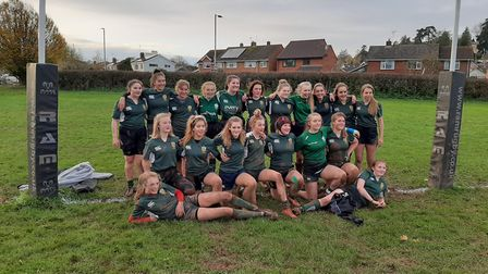 Sidmouth RFC Under-15 girls team. Picture SIDMOUTH RFC