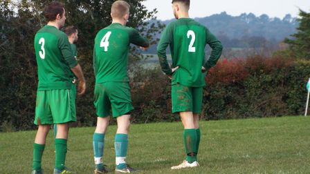 Action from the Otterton Reserves 6-1 home win over Bradninch. Picture STEVE BIRLEY