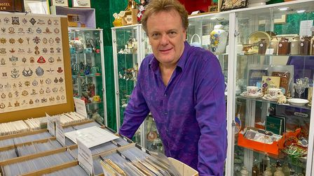 Vincent Page, of Antiques on High, celebrates one year in business. Picture: Antiques on High