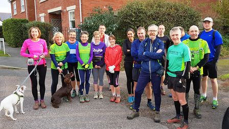 The Sidmouth Running Club Sunday Group. Picture: TERRY BEWES