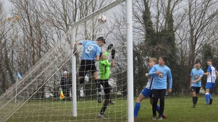 Tom Bennett's superb free-kick doubles the Ottery St Mary lead in their Devon U14 Cup win at Plymout
