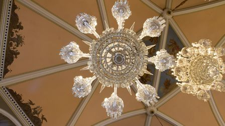 Work continues with the chandeliers at Sidholme. Ref shs 48 19TI 5157. Picture: Terry Ife