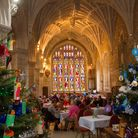 Friends of Ottery christmas tree festival. Ref sho 48 19TI 5306. Picture: Terry Ife