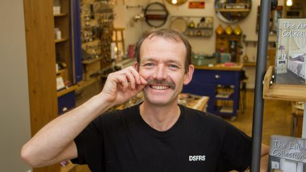 Martin Shaw-Parrott with his Movember moustache. Ref sho 48 19TI 5364. Picture: Terry Ife