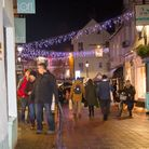 Late night shopping in Sidmouth. Ref shs 49 18TI 6642. Picture: Terry Ife
