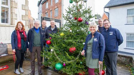 Pixie Day has organised Ottery's christmas tree this year and has been donated by Otter Nurseries Ga