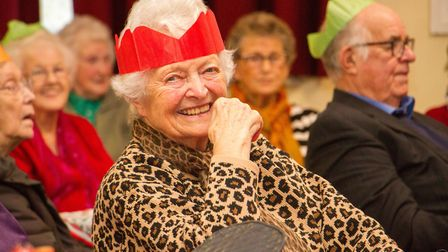 Sidmouth Lions Club's annual christmas party for seniors. Ref shs 49 19TI 5643. Picture: Terry Ife