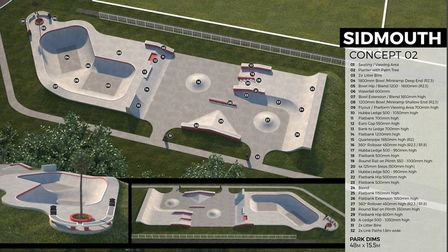 Designs for the new skatepark in Sidmouth. Picture: Maverick Industries