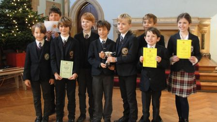 St John's School pupils with their awards. Picture: Sarah Frost