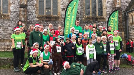 Sidmouth Running Club members at the 2019 Otterton Reindeer Run. Picture SRC
