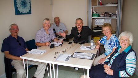 Jeremy Vine at Sid Vale Talking Newspapers. Ref shs 31 19TI 9476. Picture: Terry Ife