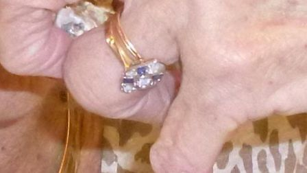 This ring was lost for a month - and then found in the street in Sidmouth. Picture: Sally Dulles