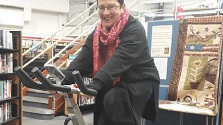 The fixed exercise bike at Sidmouth Library. Picture: Sidmouth Library