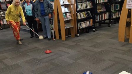Carpet curling at Sidmouth Library. Picture: Sidmouth Library