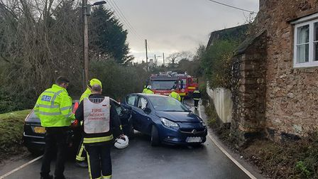 Emergency services on the scene. Picture: Devon and Somerset Fire and Rescue Service