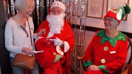 The Santas Grotto at the Sidmouth Bowls Club's Penny Fayre was a popular place. Picture SBC