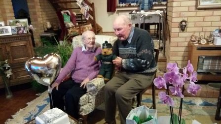 Monica and John Rawlings celebrate their 70th wedding anniversary. Picture: Rawlings family