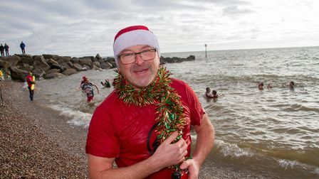 Other side of the lens for former Herald photographer, Simon Horn, during the 2018 swim. Picture: Si